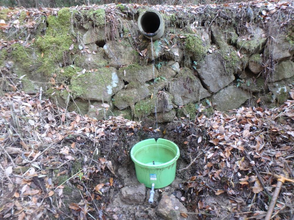山水取水口の位置変更