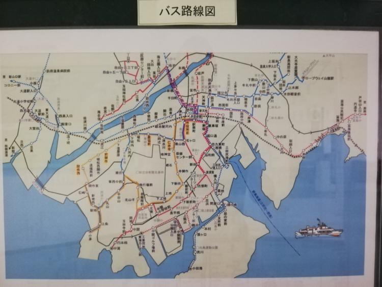 西浦・防府 バス路線図